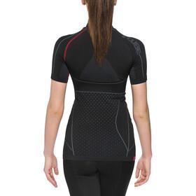 Cube Baselayer shirt Cold Function Undershirt shortsleeve Dame black'n'grey'n'red